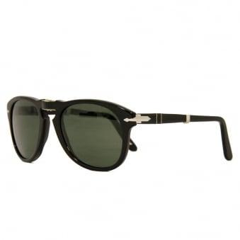 Persol 714 Foldable Black Polarized Sunglasses 54mm  0PO0714