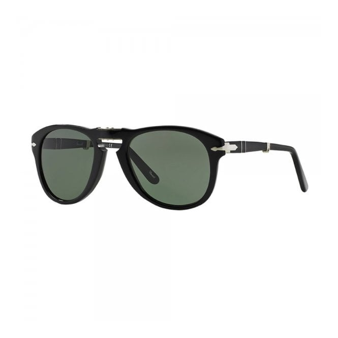 Persol 714 Foldable Black Sunglasses 52 mm lens 0PO0714