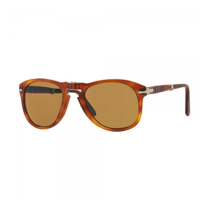 Persol 714 Foldable Brown Sunglasses 0PO0714 54/140