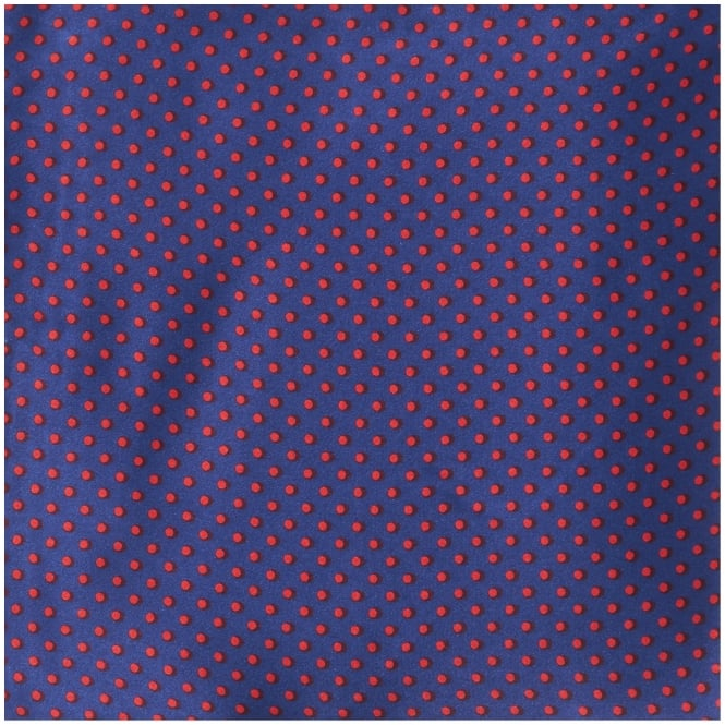 Tootal Vintage Purple Pin Dot Silk Pocket Square