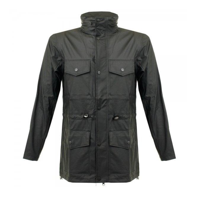Rains Four Pocket Black Jacket 1237 01