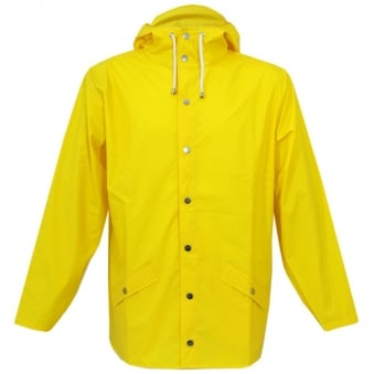 Rains Hooded Yellow Jacket 12010403