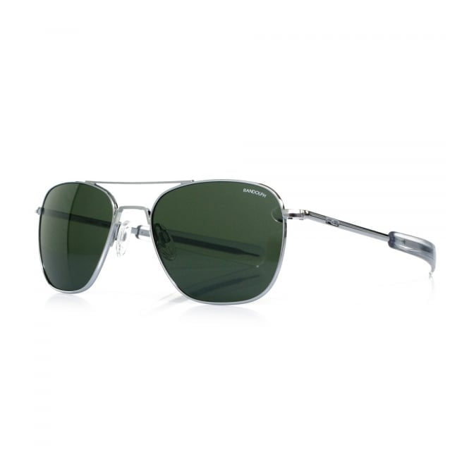 Randolph Sunglasses Randolph Aviator Bright Chrome Sunglasses AF53614