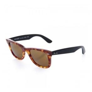Ray Ban Original Wayfarer Fleck Brown Tortoise Sunglasses 0RB2140-1161