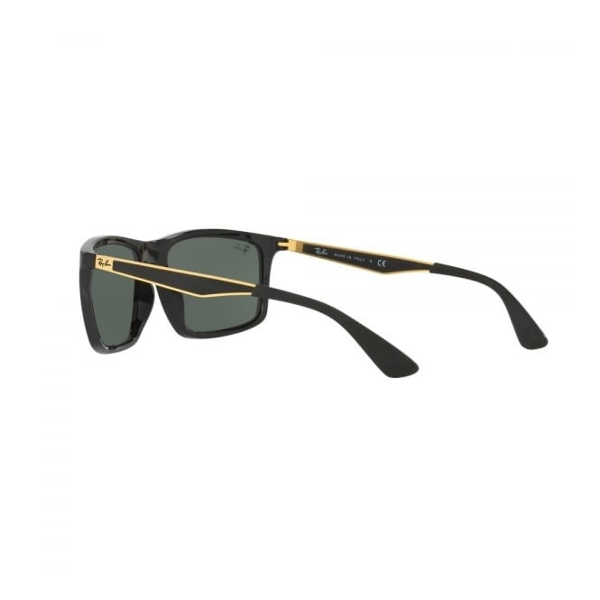 ray ban sunglasses black and gold