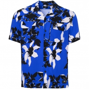 Rayon Blue Garage Shirt