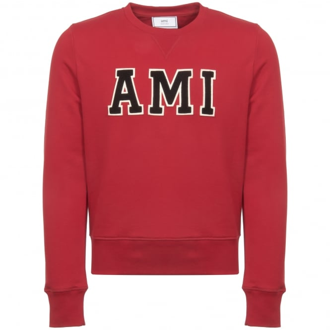 AMI Red Patch Sweatshirt