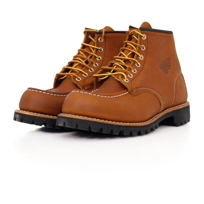 Red Wing Moc Lug Oro-Iginal Leather Light Brown Boot 8147