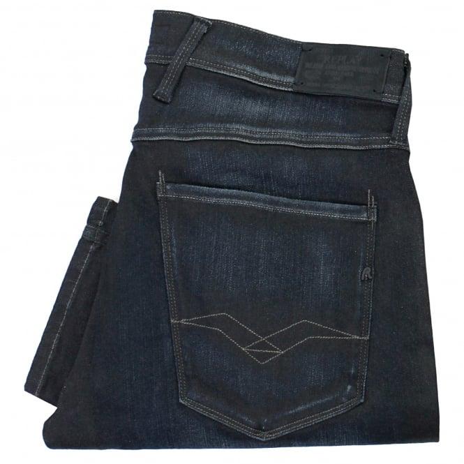 Replay Jeans Replay Anbass Hyperflex Slim Fit Blue Black Jeans 91403