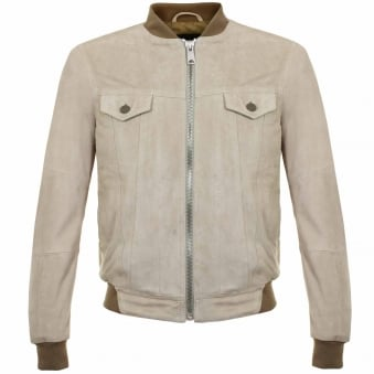 Replay Beige/Dove Grey Suede Leather Jacket M8837