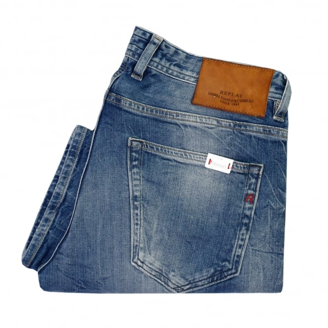 Replay Jeans Replay Grover Red Cast Denim Jeans MA972 000