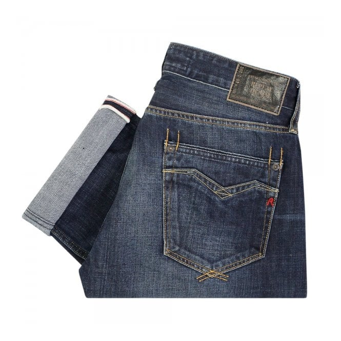 Replay Jeans Newbill Deep Blue Denim Jeans MA955000