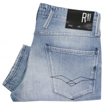 Replay Laser Anbass Red Cast Rinse Denim Jeans M914