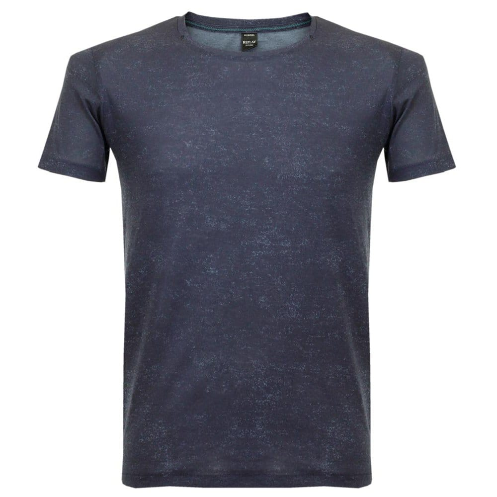 Replay Shop Online Speckled Blue T Shirt