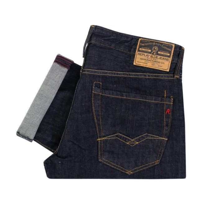 Replay Jeans Replay Waitom Indigo Denim Jeans 11807D007