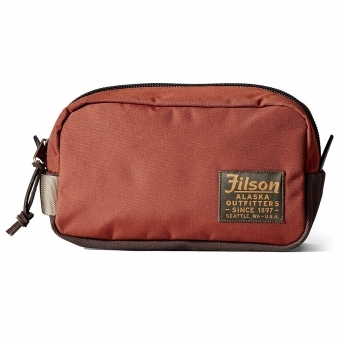 Rusted Red Ballistic Nylon Travel Pack