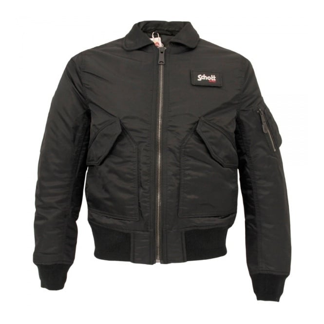 Schott NYC Schott Bomber Flight Jacket CWU-R Black 210100