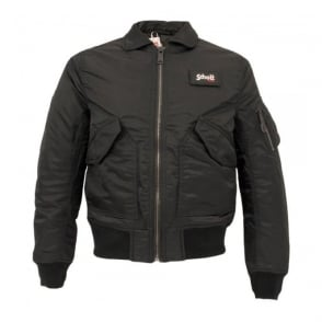 Schott Bomber Flight Jacket CWU-R Black 210100