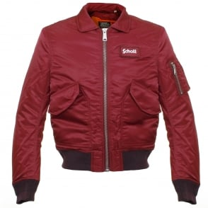 Schott CWU-R Bordeaux Bomber Flight Jacket 210100