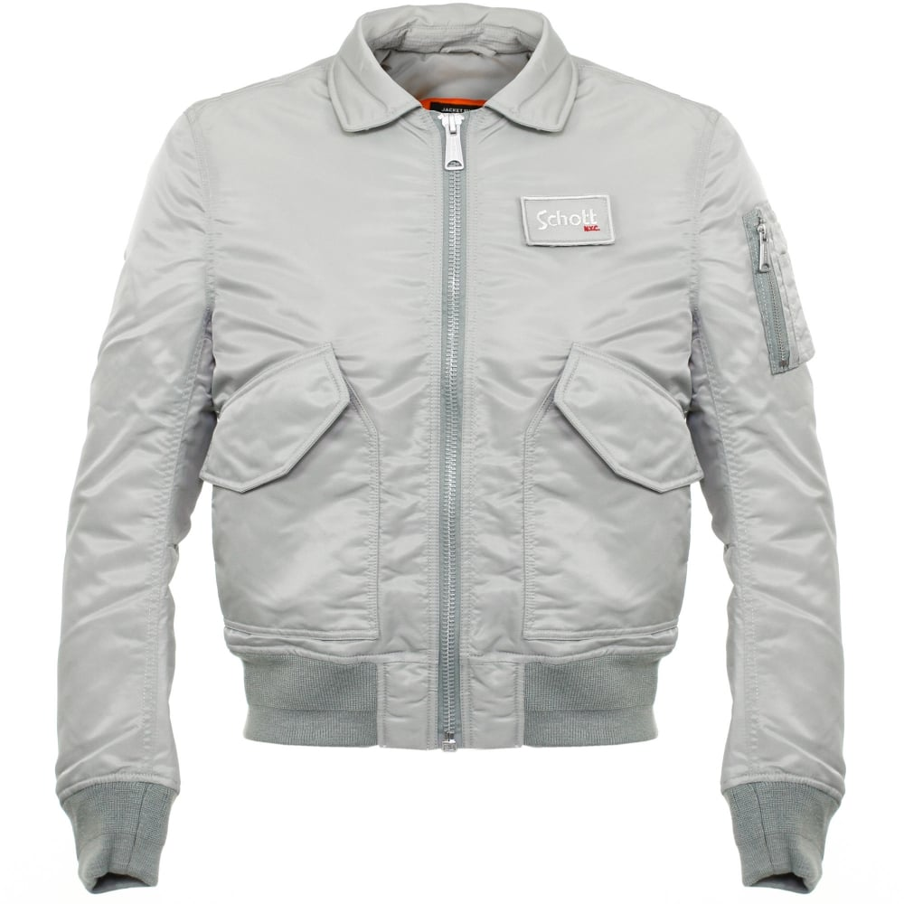 Schott Online Store | CWU-R Silver Bomber Flight Jacket