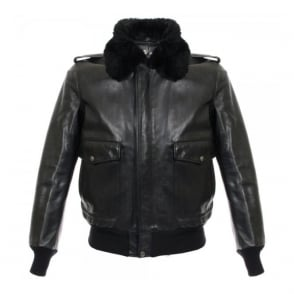 Schott NYC A-2 Cowhide Black Leather Jacket 184SM