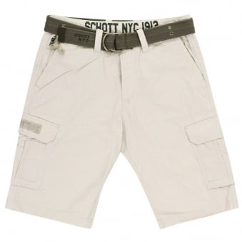 Schott NYC Cargous 30 Ciment Cargo Shorts suns1508