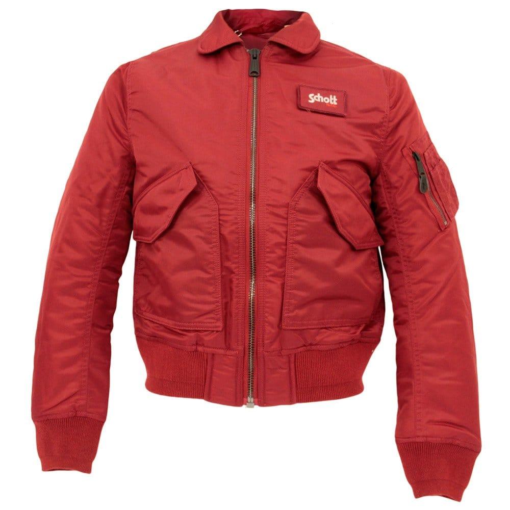 schott nyc cwu r red bomber flight jacket 210100. Black Bedroom Furniture Sets. Home Design Ideas