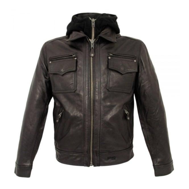 Schott NYC LC8102 Dark Brown Police Jacket