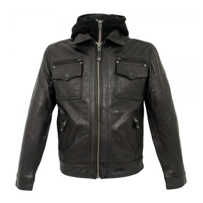 Schott NYC LC8102 Police Black Leather jacket