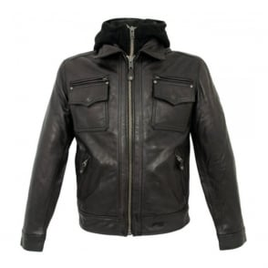 Schott NYC LC8102 Police Black Leather jacket