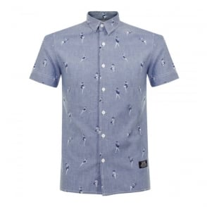 Schott NYC Shpinup Rinse Chambray Shirt OCCS1604