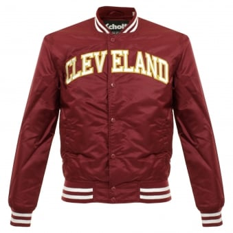 Schott NYC Stadium Cleveland Bordeaux Bomber Jacket