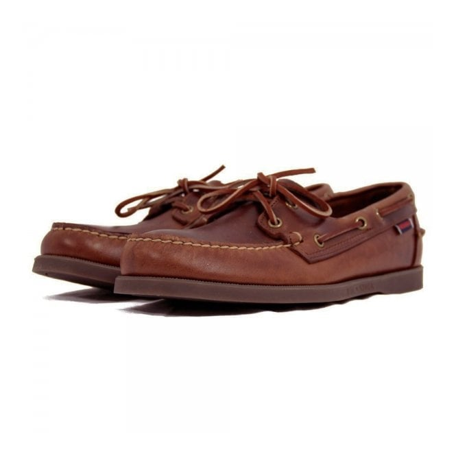 Sebago Docksides Brown Leather Boat Shoe B72743