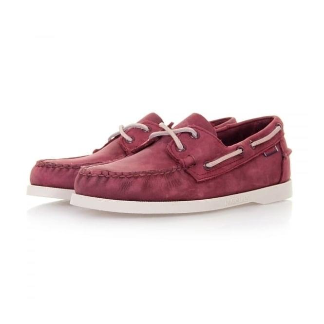 Sebago Docksides Wine Nubuck Shoes B720185