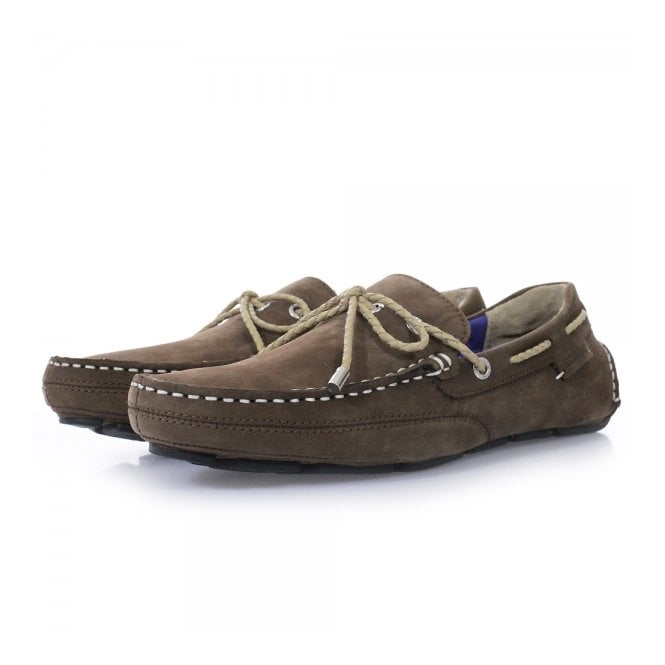 Sebago Kedge Brown Nubuck Driving Shoes B810112