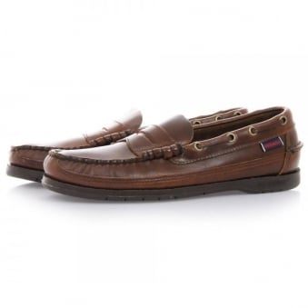 Sebago Sloop Brown Loafer Shoe B70384