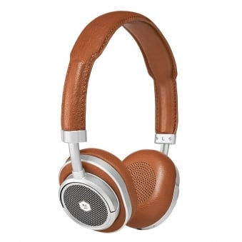 Silver & Brown MW50 On-Ear Wireless Headphones