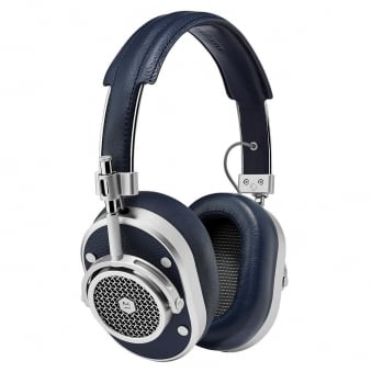 Silver & Navy MH40 Over-Ear Headphones