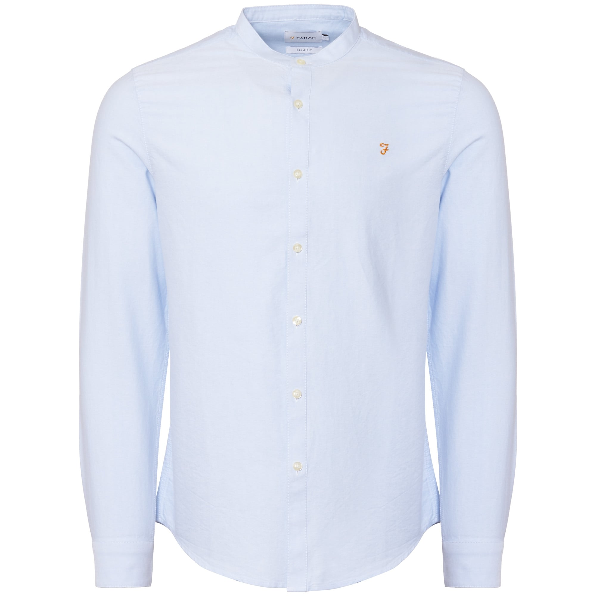FARAH Brewer Slim Grandad Long Sleeve Mens Shirt