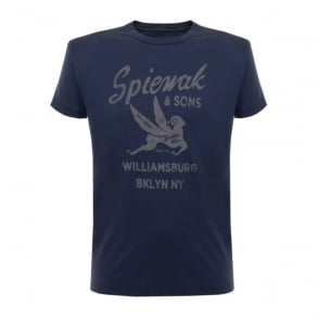 Spiewak and Sons indigo T-shirt 02SPMCS0271FSJ01