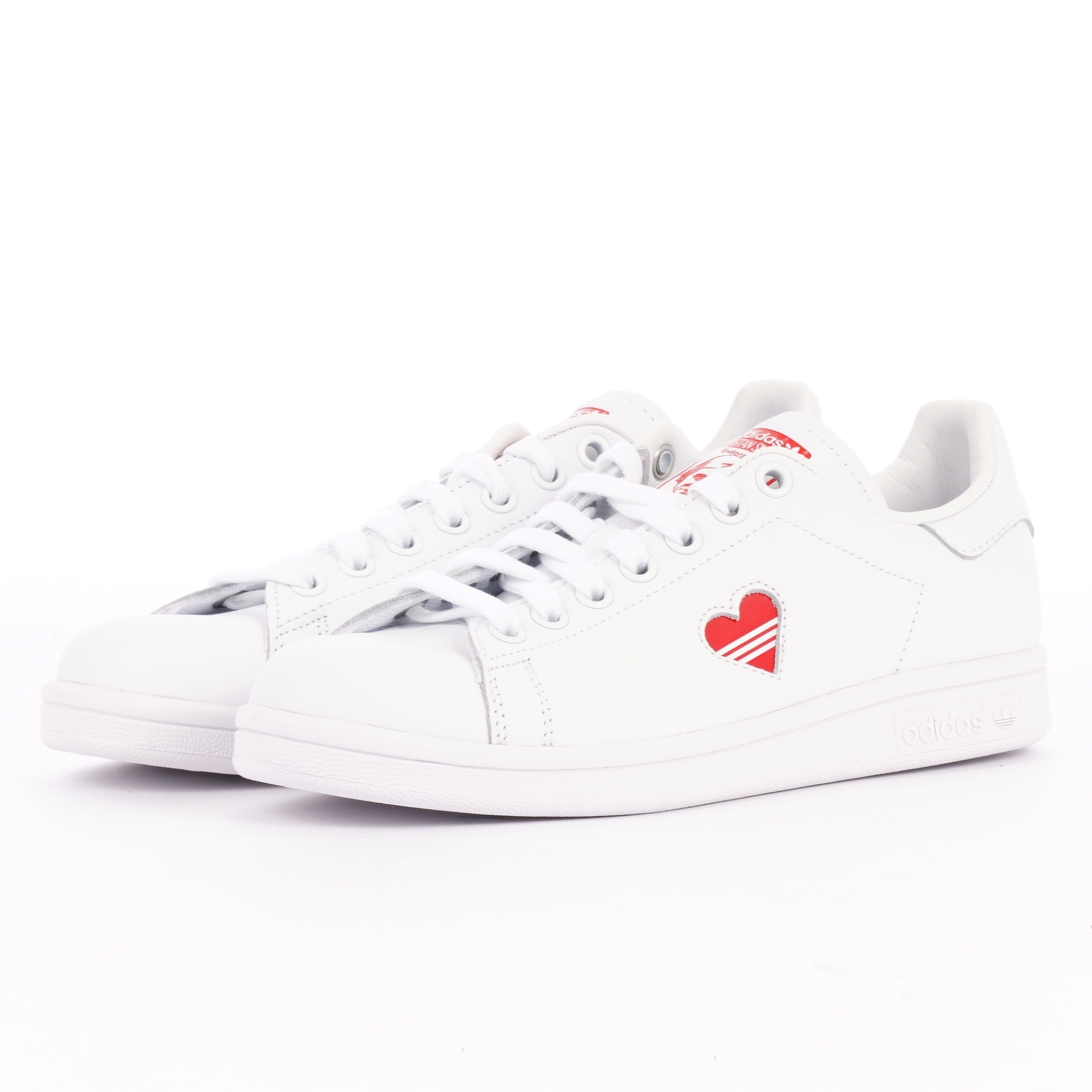 revendeur 9142f 9dfbf Stan Smith - FTWR White and Active Red