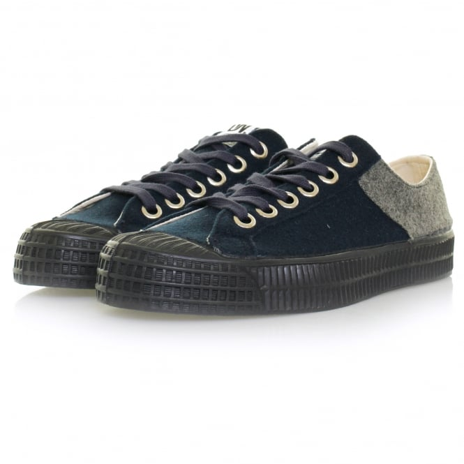 Universal Works x Novesta Star Master Canvas Shoes - Navy & Wool Grey