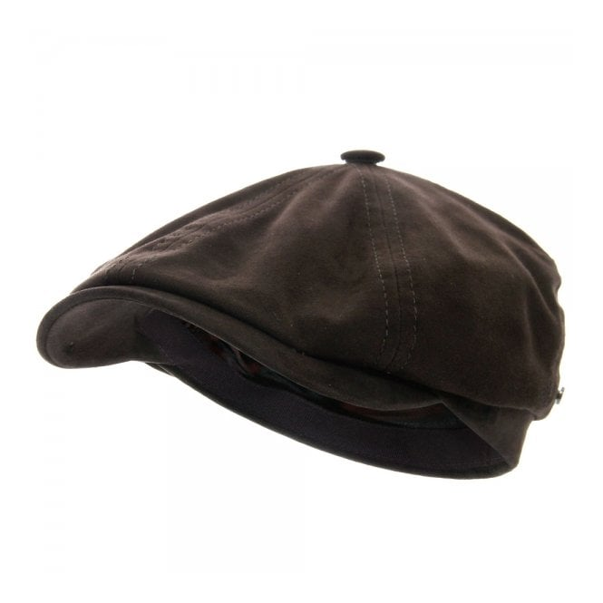 Stetson Hats Stetson Brooklin Goat Suede Brown Newsboy Cap 6647401-6