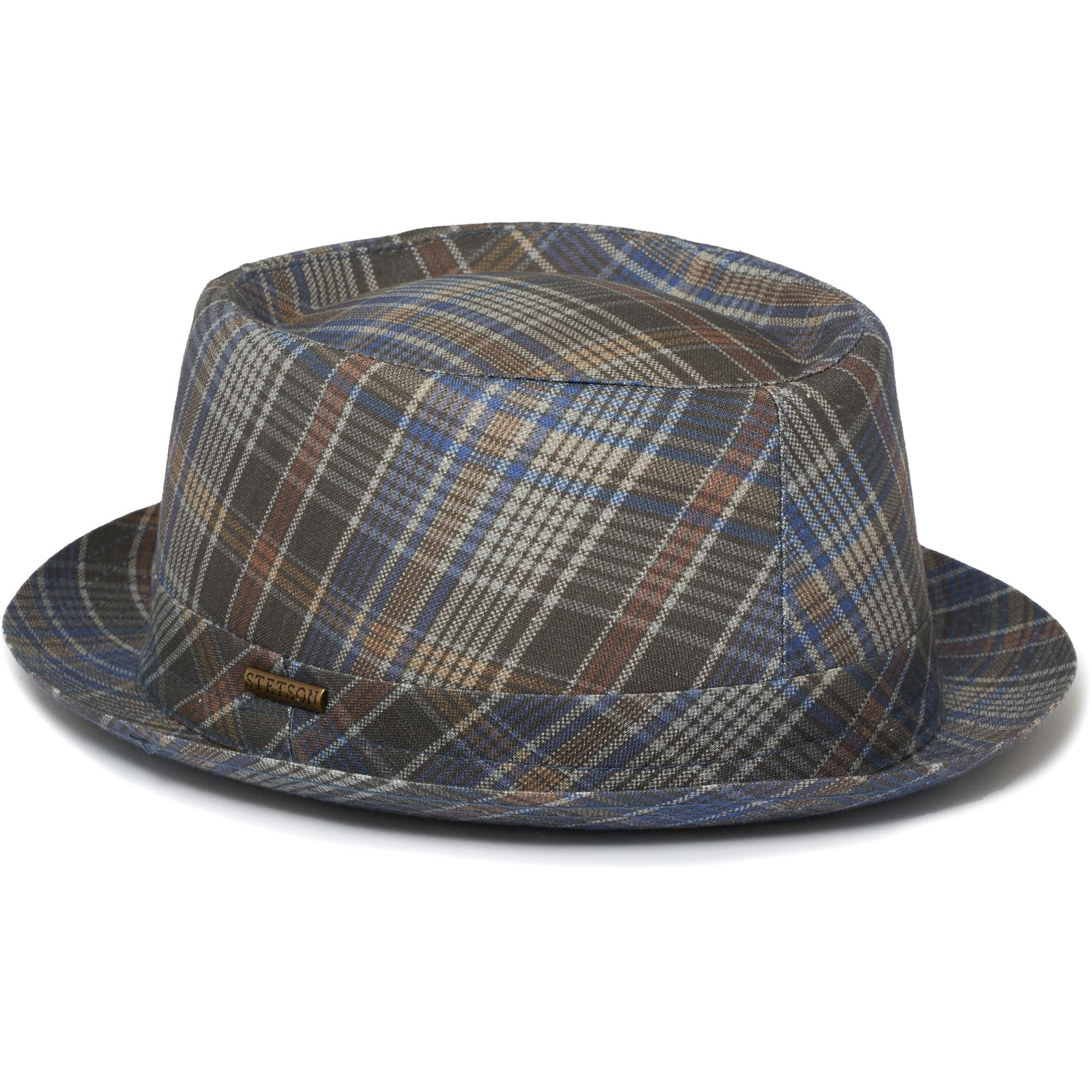 e5f54dca788 Stetson Checked Pork Pie Hat 1691201-123