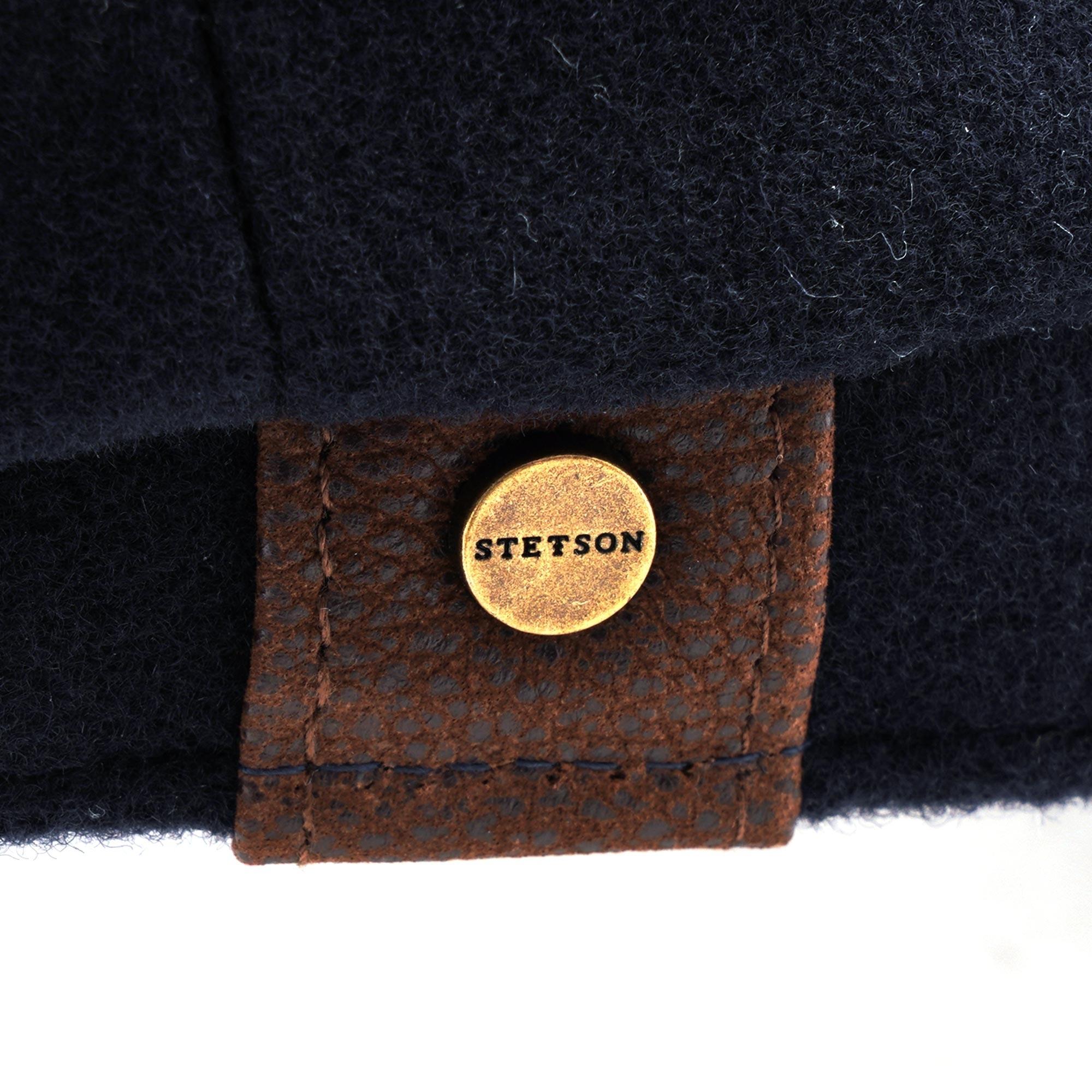 Stetson Wool Check Riders Cap Elbsegler Wollcap Ballonm/ütze Newsboy-M/ütze Baker-Boy-M/ütze Damen Futter Herbst-Winter Made in Italy mit Schirm