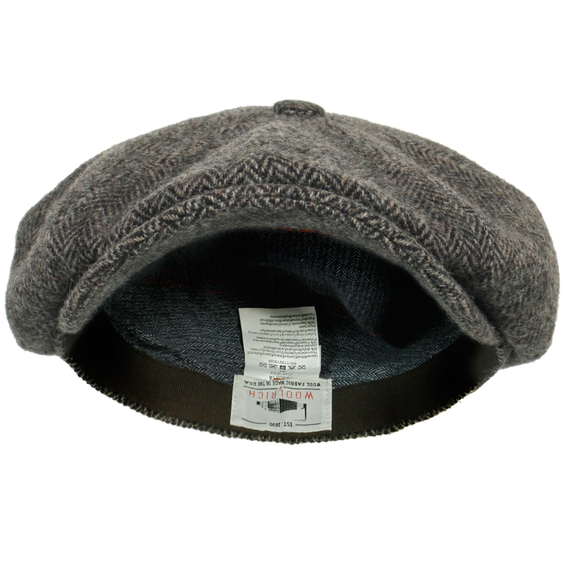Stetson Hatteras Woolrich Herringbone Grey Newsboy Hat 6840514 333 673a5da3b9d