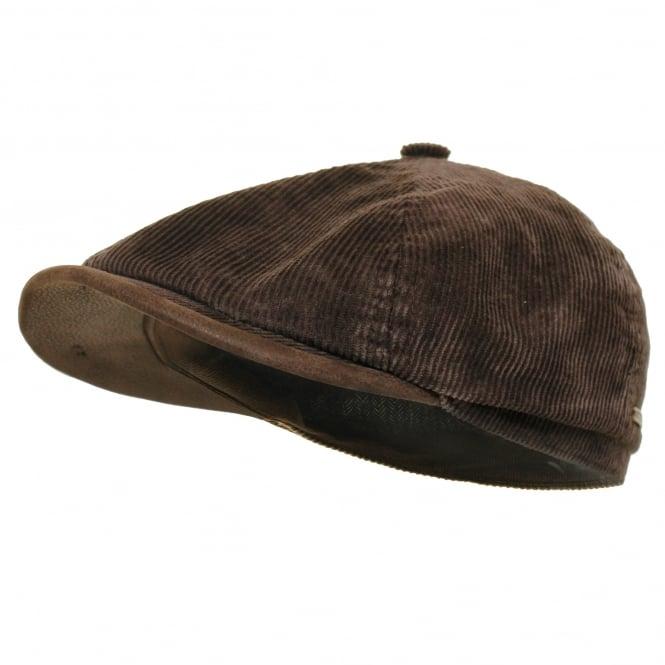Stetson Hats Stetson Hatteras Corduroy Brown Newsboy Cap 6651104