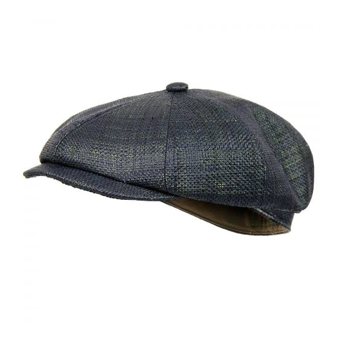 Stetson Hats Stetson Hatteras Raffia Dark Green Flat Cap 6848504 21
