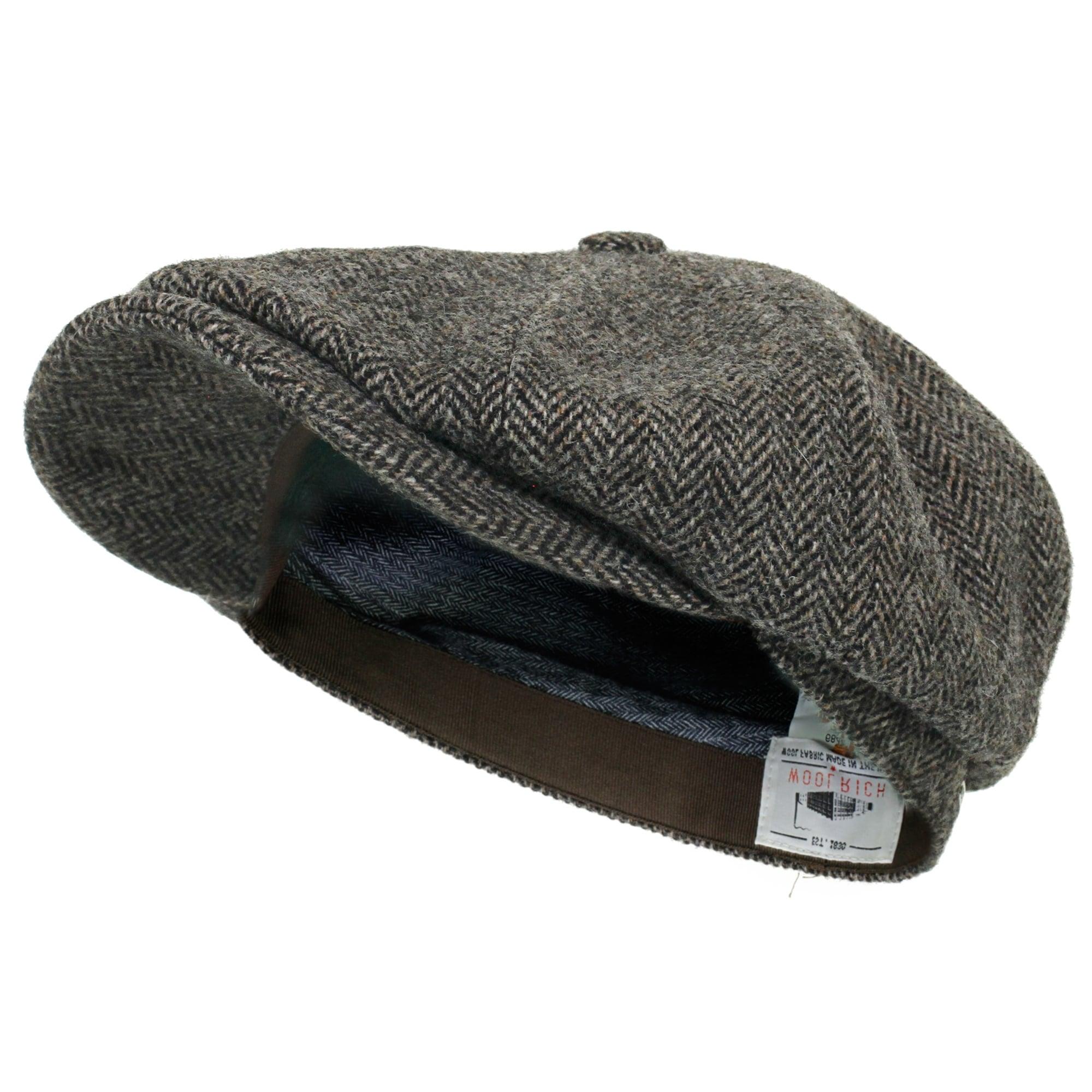 Stetson Hatteras Woolrich Herringbone Grey Newsboy Hat 6840514 333 a3ce26cbcc5