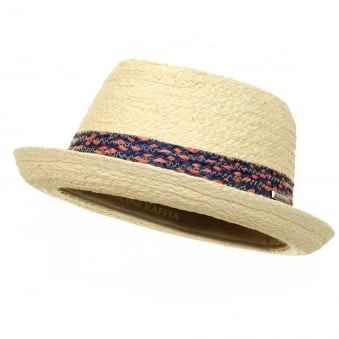 Stetson Player Straw Trilby Hat 1338507 71